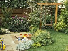 Don't have a tree to hang a swing, and don't have the yard for a swing set? Try an arbor!