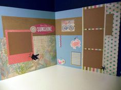 Two page layout using CTMH Seaside paper and embellishments.
