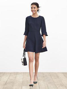 Flutter-Sleeve Dress | Banana Republic. Bought it in Fuchsia.