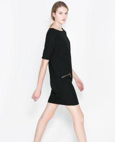 DRESS WITH ZIPS from Zara