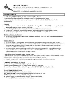 Music Teacher Resume Sample Will Give Ideas And Provide As References Your  Own Resume. There Are So Many Kinds Inside The Web Of Resume Sample For  Music ...