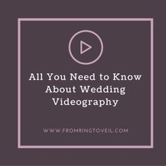 #29 All You Need to Know About Wedding Videography