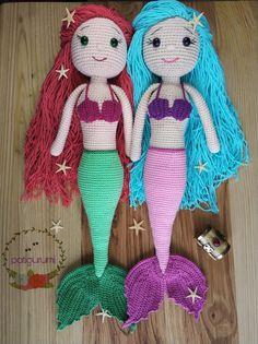 Ücretsiz deniz kızı tarifim@patigurumi Instagram sayfamda #amigurumi #patigurumi #mermaid #denizkızı #freepattern