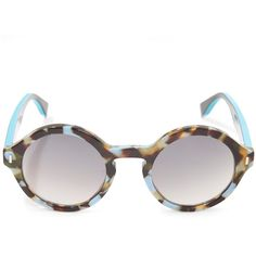 92f0cd60264 Fendi Turquoise 0153 Sunglasses ( 285) ❤ liked on Polyvore featuring  accessories