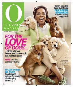Oprah's cocker spaniel Soloman come from where my Rusty Luv came from too.... <3 Hyer Luv
