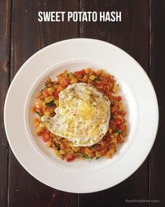 Sweet potato hash -whole 30, this page also has some other simple recipes and tips for doing a Whole30