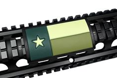 Handguard Rail Cover: Texas Flag / GREEN - Large Grip PVC