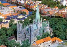 Beautiful Nidaros cathedral in Trondheim.