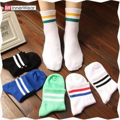 Women Cotton Stripe Socks New Fashion Female Sock Retro Sock Wholesale...............................................  Price : $4.97