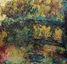 The Japanese Bridge, 1924 by Claude Monet. Impressionism. landscape