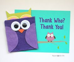 Repeat Crafter Me: Felt Owl Gift Card Holder