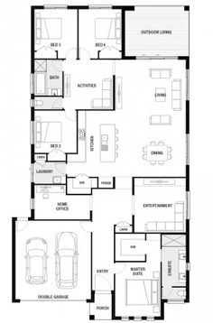 The Home Decor Guru – Interior Design For Bedrooms 6 Bedroom House Plans, Porch House Plans, Basement House Plans, Bungalow House Plans, Modern House Floor Plans, Farmhouse Floor Plans, Best House Plans, Small House Plans, Single Storey House Plans