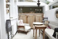I love an enclosed porch