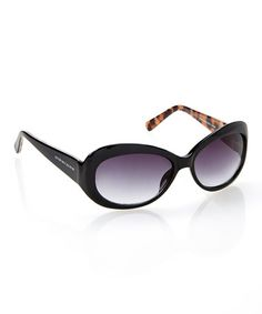 Loving this Black Rounded Sunglasses on #zulily! #zulilyfinds