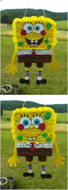 Pro všechny nadšence Spongeboba. Udělejte si oslavu s piňatou Spongebob! Jak takovou oslavu provést najdete na www.pinata.cz