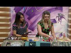 Mulher.com - 28/10/2016 - Caixa vintage com técnica de carimbos - Camila Claro de Carvalho P1 - YouTube