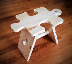 Jigsaw Puzzle Stool via Etsy - such a cute stool for the kiddos!