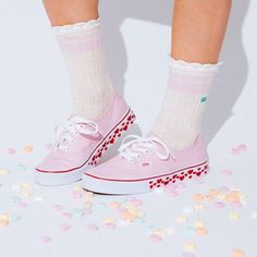 The Hearts Tape Authentic & Girly Crew Sock: Crushing hearts since '66.