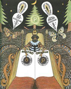 illustration by vello vinn for helvi jürisson's 'putukajutud [insect stories]' (1983)