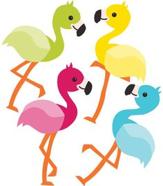 School Pop Flamingos Mini Cut-Outs