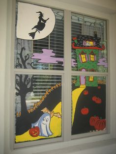 How To Do Halloween Art For Window Painting
