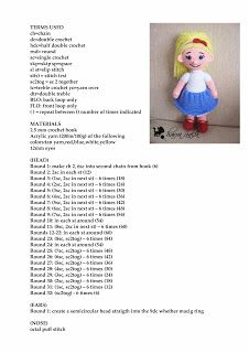 Havva Ünlü - Amigurumi Designs: free pattern doll Turkish Blogspot. pattern in English