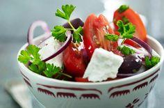 Græsk salat med tomater og gedefeta