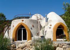 super nice earthbag dome home