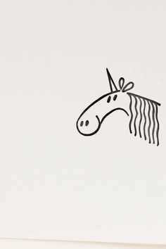 Unicorn stamp fairytale creature horse stamp peekaboo