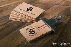 Rustic Dog Business Cards dog walkers dog hikers by P4DEssentials
