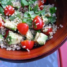 A delicious and simple quinoa, cilantro and tomato salad. Plus learn all about quinoa.