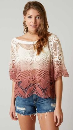 49d9ac275343b7 Gimmicks Crochet Off The Shoulder Top - Women s Shirts Blouses in Cream  Rust
