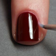 7 steps to a perfect DIY manicure. Great tip on using a small paintbrush to clean up the cuticles. Easy homemade tutorial