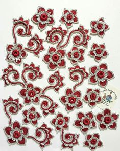 Russian Crochet, Form Crochet, Irish Crochet, Crochet Lace, Floral Embroidery, Embroidery Stitches, Embroidery Designs, Lace Flowers, Crochet Flowers