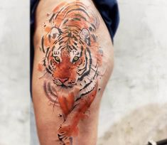 Tiger tattoo by Felipe Mello