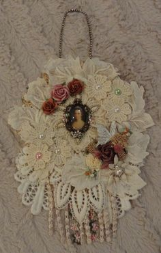 Vintage Inspired Doily Wall Hanging