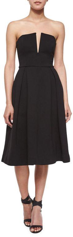 Nicholas Strapless Ball Dress, Black