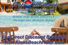 Lost Horizon Beach Dive Resort Alona Beach Bohol Philippines http://www.AlonaBeachHotel.com offers a chance to get away from it all. Located on the stunning white sands of Alona beach, close to shopping and island hopping adventures. Now offering big discounts on rooms when you book directly through our website!