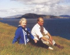 Elizabeth II:  Her Majesty and Her husband, Prince Philip, in the Western Isles, Scotland, 1996