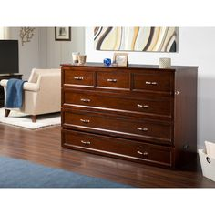 Deerfield Murphy Queen Bed Chest with Charging Station Walnut - Atlantic Furniture, Brown 6 Inch Mattress, Bed Mattress, Murphy Bed Desk, Murphy Bed Plans, Furniture Deals, Bedroom Furniture, Modern Murphy Beds, Atlantic Furniture, Decorate Your Room