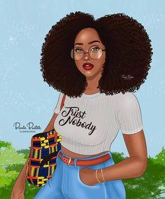 New Hair Black People African Americans 40 Ideas Black Love Art, Beautiful Black Girl, Black Girl Art, Black Girls Rock, Black Girl Magic, Style Afro, Coiffure Hair, Drawings Of Black Girls, Natural Hair Art