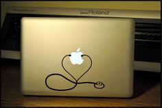 Stethoscope-Registered Nurse Apple Macbook Pro & Air LAPTOP Decal/Sticker on Etsy, $7.99