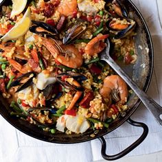 Paella recipe | Seafood recipes | Dinner Ideas - Red Online