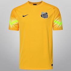 Camisa Nike Santos Goleiro 2015 - Amarelo+Verde Santos Futebol Clube c00e14c79da0b