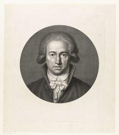 Johann Heinrich Lips | Portret Johann Wolfgang von Goethe, Johann Heinrich Lips, 1791 | Buste van voren gezien, in rond vlak.