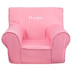 Harper Pink Kids Foam Chair With Personalization Included!