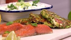Following the success of courgetti a few weeks ago, Bill Granger uses the glut of courgettes that are starting to fill the shops to make a healthier twist on a potato cake or fritter.  Its a light and healthy start to the week and everything cooks in no more than ten mins.