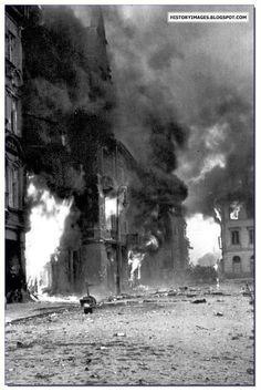 Within These Walls / Book Week 2017 / Polish Tragedy: Warsaw Uprising of Warsaw burns during the uprising.- photographical history of the place the book is set Poland Ww2, Invasion Of Poland, Warsaw Poland, Warsaw Ghetto Uprising, Poland History, World War Two, Old Photos, Wwii, Retro