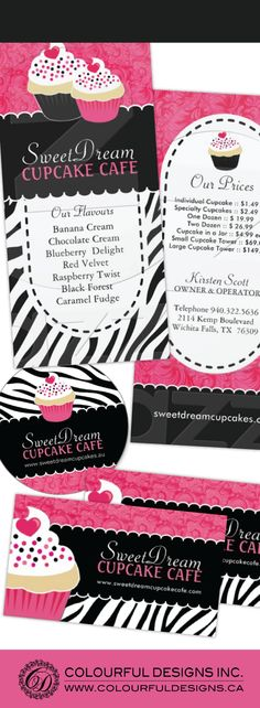Fully customizable cupcake promotional items. Designed by Colourful Designs Inc. Copyright 2013