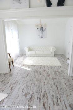 Whitewashed Laminate Flooring | Inhaus Urban Loft Whitewashed Oak 26353